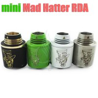 hatter - Mad Hatter mini RDA Mods Atomizer Tiny size tank Copper pin Thread MINI Mad hatter mod vaporizer mm vape RDA airflow control