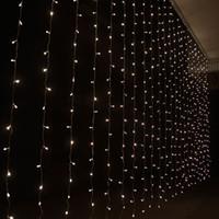 Wholesale Curtain lights christmas lights m m m m m m led lights Christmas ornament lights Flash Colored Fairy wedding Decor