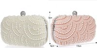 Wholesale 2015 Sparkly Shining Lastest Crystal Peals Bridal Hand Bags with Chain Women Wedding Evening Prom Party Bags Bridesmaid Bags