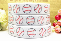 baseball grosgrain ribbon - New arrival yards quot mm white Baseball printed Grosgrain Ribbon Hair bows Scrapbooking and More