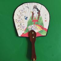 Wholesale Korean Folk handicrafts home hotel restaurant decorated fan fan import paper pole