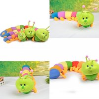 caterpillars - 2015 New Sizes Baby Toys Colorful Caterpillars Millennium Bug Doll Plush Toys Large Caterpillar Hold Pillow Kids Gifts MYF24