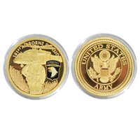 airborne coin - Vintage America Military Souvenir Coin mm The Us Army Of st Airborne Division Antique Gold Plated Coin New Limited Craft