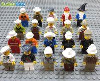 Wholesale 20pcs Different Occupations Kid Baby Toy Mini Figure Building Blocks Sets Model Toys Minifigures Brick