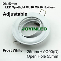 Wholesale cheaper promotion degree rotation mm frost white recessed led ceiling light holders fixtures for home