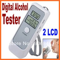 Wholesale alcohol detector Dual LCD Display Digital Alcohol Tester and Timer JC