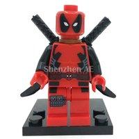 Wholesale Deadpool Minifigure Marvel X Men Super Heroes Building Blocks Sets Model Bricks Toys For Children