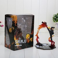 battle box - 6 quot One Piece Anime Black Leg Sanji Fire Battle Version Boxed PVC Actiong Figure Collectio Model Toy Gift