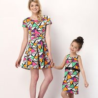 kids fashion - 2015 Summer Family clothes for Mummy Kids Fashion Dress