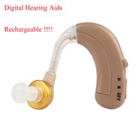 hearing aids - Rechargeable Digital Hearing Aids Aid Behind The Ear Adjustable Sound Amplifier With Low Noise Reduction Y4261R