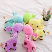 Wholesale Giraffe Plush Toy Stuffed Cute Plush Donkey Dot Colorful Doll Children Baby Birthday Gifts Home Decors