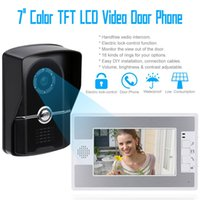 Wholesale Hot Sale Wired Night Visual Color Video Door phone Doorbell intercom System Inch TFT LCD Monitor TVL Camera order lt no track