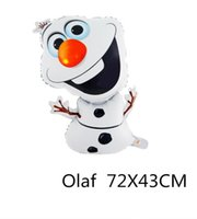 frozen party supplies - 2014 new Frozen Olaf Aluminum balloons Party Foil Helium Balloon Birthday Party Wedding Decoration Supplies Kids Gift Toy frozen