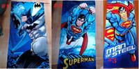 batman towel - x120cm Supermen Batman towels babies Towel Elsa superhero towel spiderman batman new