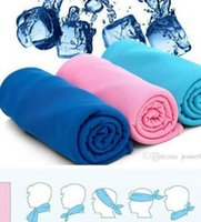baby hooded beach towel - Cold cooling Performance towel sports outdoor ice cold scarf scarves Pad neck tie wristband headband Summer beach cooling band carnival gift