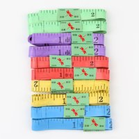 Wholesale New Arrival Practical Body Measuring Ruler Sewing Tailor Tape Measure Soft Flat Color Random Drop Shipping HG