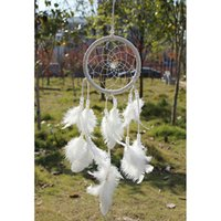 Wholesale Handmade Dream Catcher Circular Net With Feathers Wall Hanging Car Decor Craft