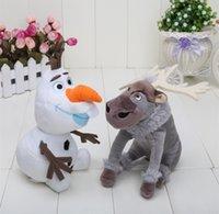 kids games and toys - 2pcs set CM Cartoon Movie laf CM Sven Olaf and Sven snowman Milu deer Kristoff friend Sven Plush toy stuffed doll for kids gift