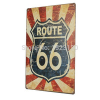 Wholesale 1PCS New X30cm ROUTE metal painting poster wall decor metal sticker Tin sign Iron Retro Tin Metal Signs Plaques order lt no track