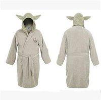 Wholesale Star Wars Star Wars Darth Vader Coral Fleece Yoda Master Adult Kids Bathrobe Sleepwear Coral Fleece Unisex Sleepwear Bathrobe