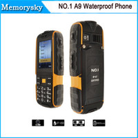 Wholesale Super Model Phone - Waterproof Phone NO.1 A9 Shockproof Pressure Proof Freeze-proof Dust-proof 4800mAh Super Flashlight FM No Earphone by DHL 010052