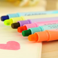 Wholesale 36pcs Cute Highlighter pens Candy color Marker drawing pen Stationery Office supplies School material p019