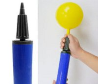 baloon inflator - 2pcs Plastic Hand Soccer Ball Balloon Inflator cm Birthday Party Baloon Tools for Gas filled Air Pump Color random send