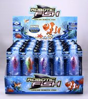 Wholesale Robo fish Robofish Electric Toys Emulational Electronic Pet Toys Creative Baby toys Robotic Fish with retail package