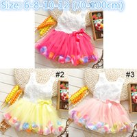 Wholesale Dresses For Kids Girls Dresses Baby Lace Dresses Girl Clothes Princess Dress Flower Dresses Baby Summer Dress Infant Dress Epacket
