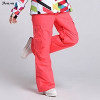 Wholesale New gsou snow brand candy colorful thick warm waterproof windproof ski pants women outdoor sports snowboard pants clothing