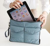 apple cosmetic bags - Colors Apple iPad Bag in Bag Inner Bag Organizer Hangbag Insert ipad purse Nylon Digital Organizer Bag cosmetic train cases