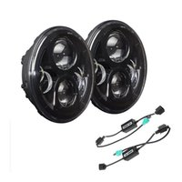 Wholesale Car Styling inch W W Car LED Lighting Headlight Running Lights For Jeep Wrangler Jeep Accessories Auto Lamp