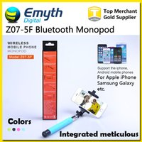 Wholesale Monopod Selfie Stick Integrated Meticulous Z07 F Wireless Bluetooth Phone Handheld Remote Control Self timer Shutter for iPhone IOS Samsung