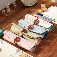 floral supplies - Floral Print Offics School Supplies Children Stationery Folding Pencil Bags Funky Korean Fashion Pencil Cases MM