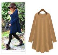 women dress drop ship - Women s Clothing Fashionable Casual Dress Shirt Solid color Long sleeve Top Celebrity style Plus size Coat Drop shipping