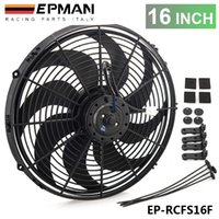 Wholesale TANSKY Epman Racing Car Universal V quot Electric Fan Curved S Blades Radiator Cooling Fan For Radiator Oil CoolerEP RCFS16F
