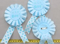 baby shower gifts for mom - 30pcs handmade Satin Ribbon Fabric Badge for new baby mom dad applique brooch baby shower gift