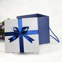 Wholesale Quality bow blue gift box storage boxes for men CM Party goods supplies gifts shop products
