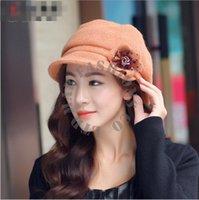 Precio de Lazo de lana-Wholesale-2015 de Nueva marca de otoño y el método de invierno Estaciones armadura llana Knitting teñido anudado Procesamiento Ocasionales Sombreros de lana geométrica para Mujeres
