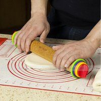 Wholesale Real wood home Kitchen cake Cooking Tools fondant rolling pin with washer Rolls