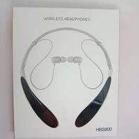 bluetooth headphones - HBS Sports Stereo Bluetooth Wireless HBS Headset Earphone Headphones for LG Iphone samsung retail package