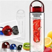 Wholesale Hot ML Fruit Fuzer Infusing Infuser Water Bottle Sports Health Lemon Juice Make Bottle ZH404