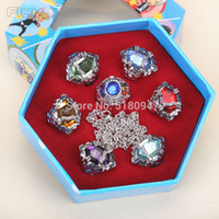 Wholesale Anime Katekyo Hitman Reborn Sawada Tsunayoshi Cosplay Rings Vongola Rings Set with Retail Box ANPD1898