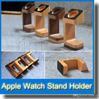 Wholesale Sample Wooden Wood Charging Stand Charger Cord Station Desktop Dock for Apple Watch iWatch mm mm New
