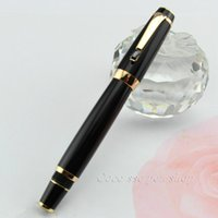 Wholesale Free High Quality Black Color Pen Gift Resin Fountain Pen With Crystal Kawaii Office Supplies School Series