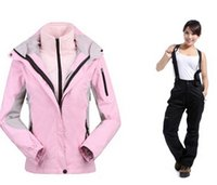 Wholesale Colors Outdoor Clothes Ladies Genuine Two piece Jackets Female Ski Suit sports of skiing pant