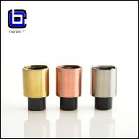 Wholesale ultra wide bore drip tips Press Fit Drip Tips vs Silencer Drip Tips clone KNN Drip Tips Puffs vs Royal Goblet Drip Tips w Black Derlin