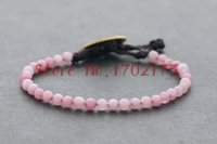 additive color - Additive Color Rhodochrosite Small Pink Stone Wrap Bracelet For Women Girl Gift Pulseras Jewelry Bijoux