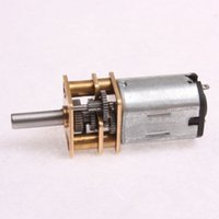 Wholesale Model N20 DC V RPM Mini Metal Gear Motor with Gearwheel mm Shaft Diameter