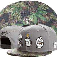 Wholesale 2016New Brand casquette cayler sons Letter Roll Light Smoke adjustbale baseball caps hip hop style sport bone snapback Cheap